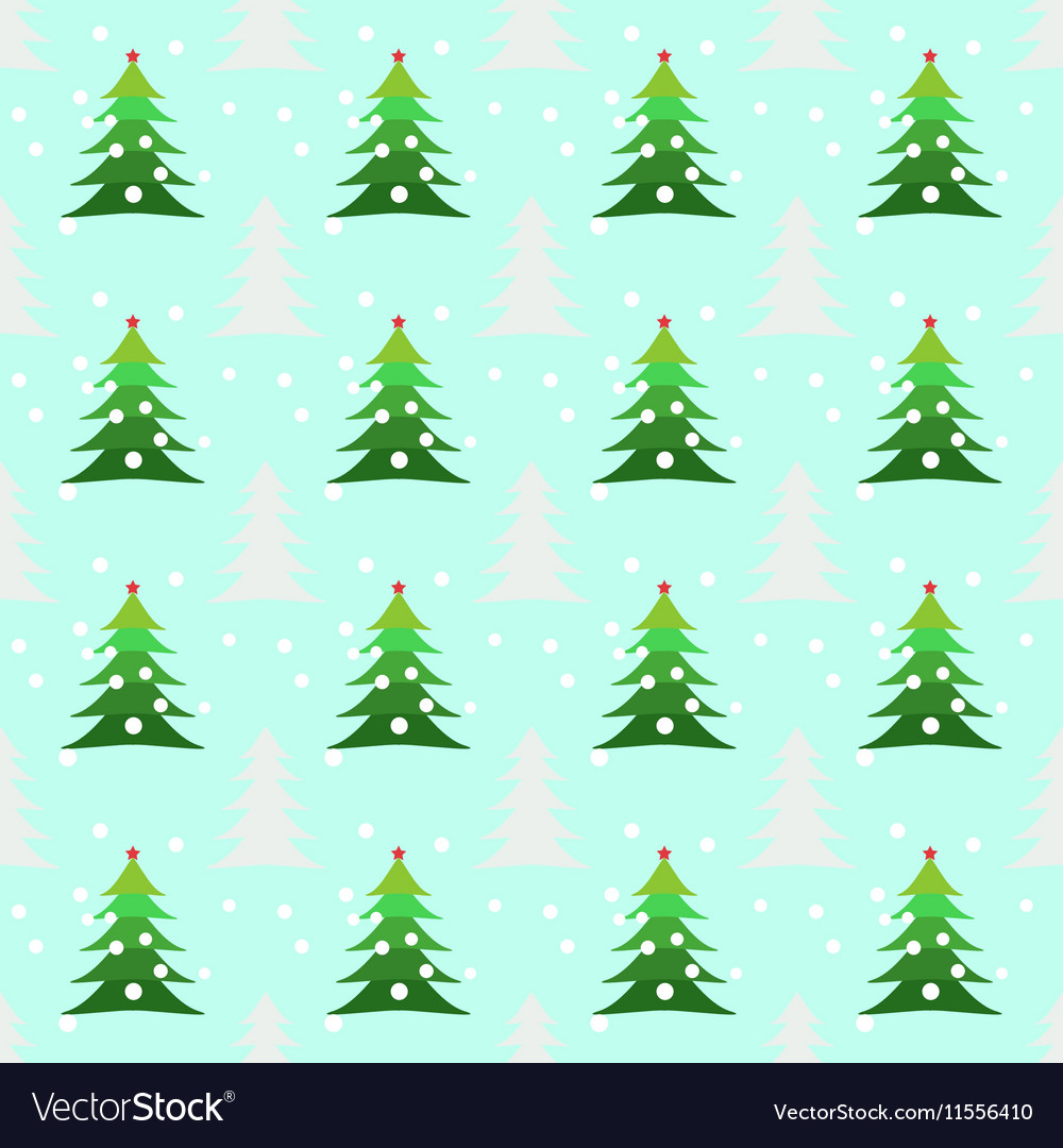 Seamless christmas trees background Royalty Free Vector