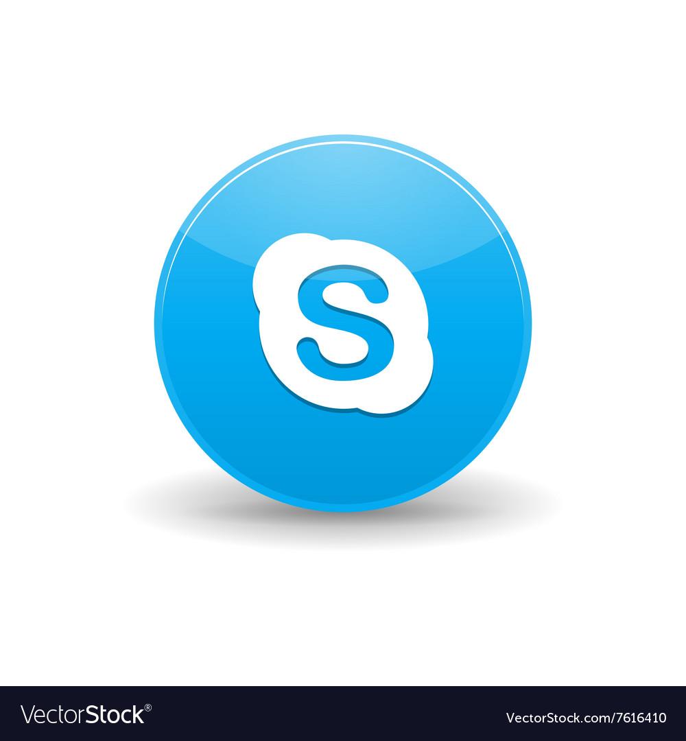 Skype icon simple style