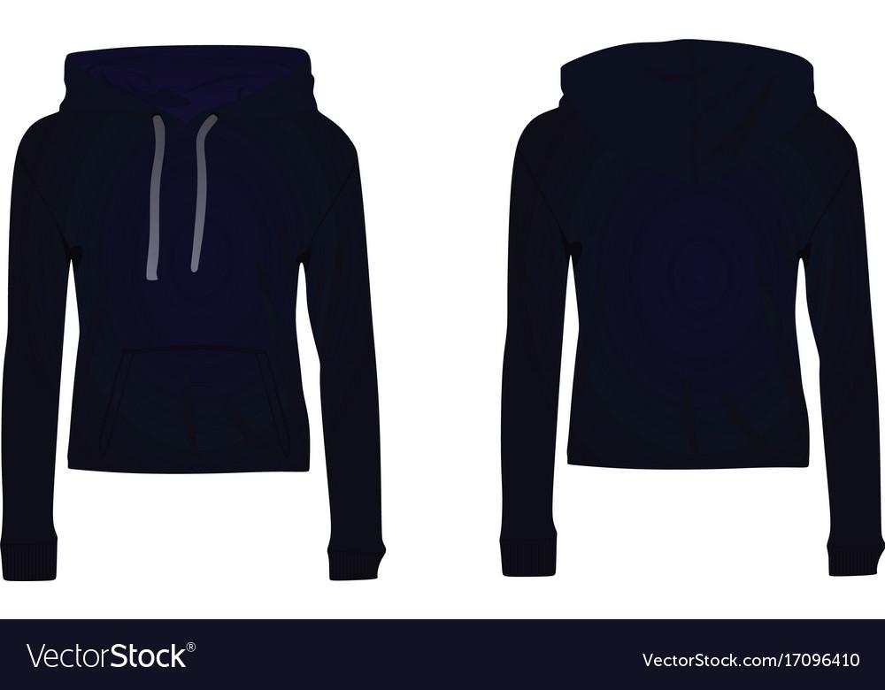 6c5153788 Women dark blue hooded sweatshirt