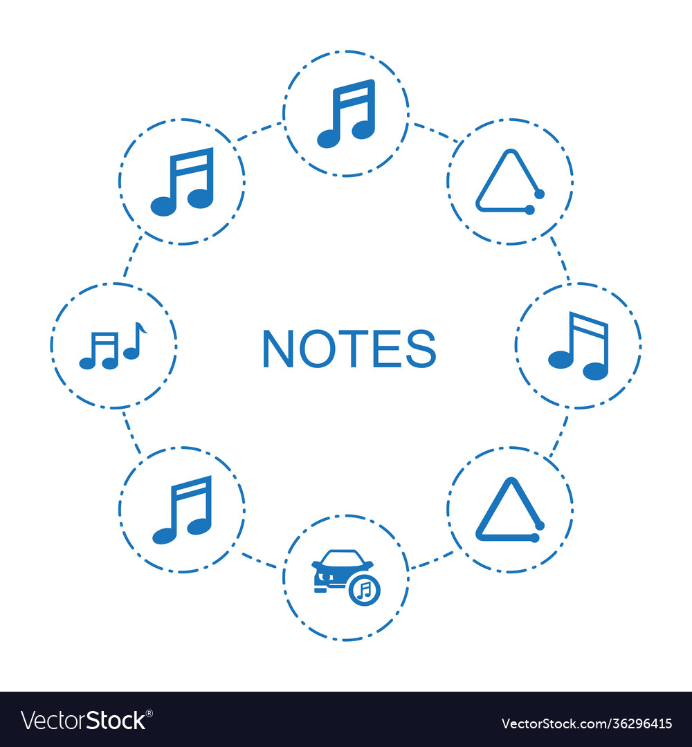 8 notes icons