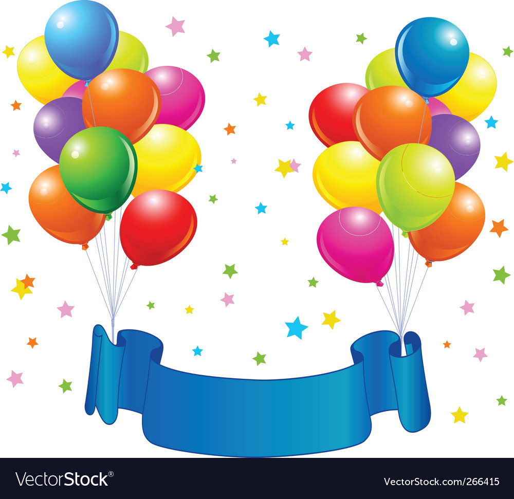 Birthday Balloons Design Vector Image