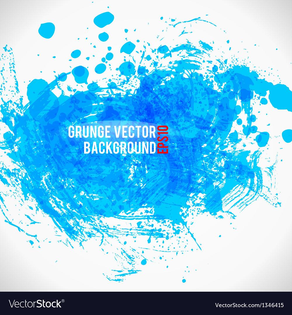 Color Paint Splashes Grunge Background Bule vector image