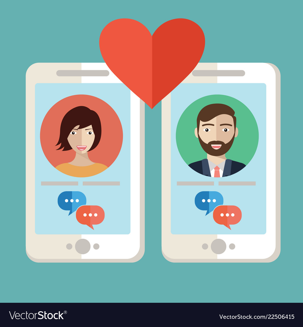 Male and female hands holding mobile phones with