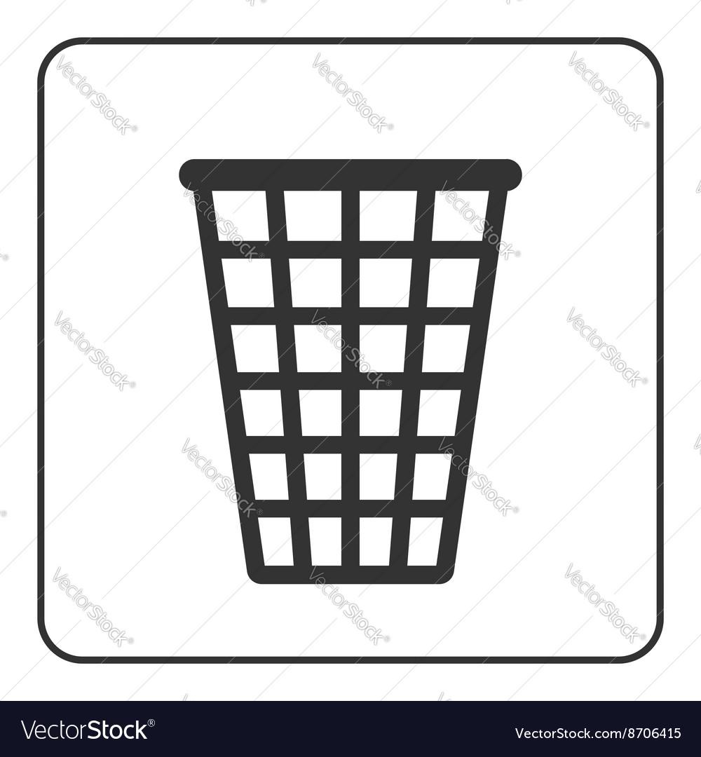 Recycle icon Trash bin sign