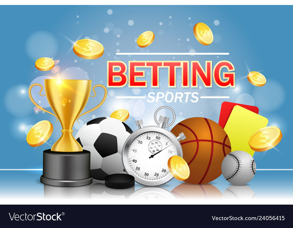 Sports betting poster banner design