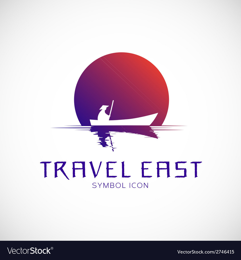Travel East Concept Symbol Icon or Logo Template