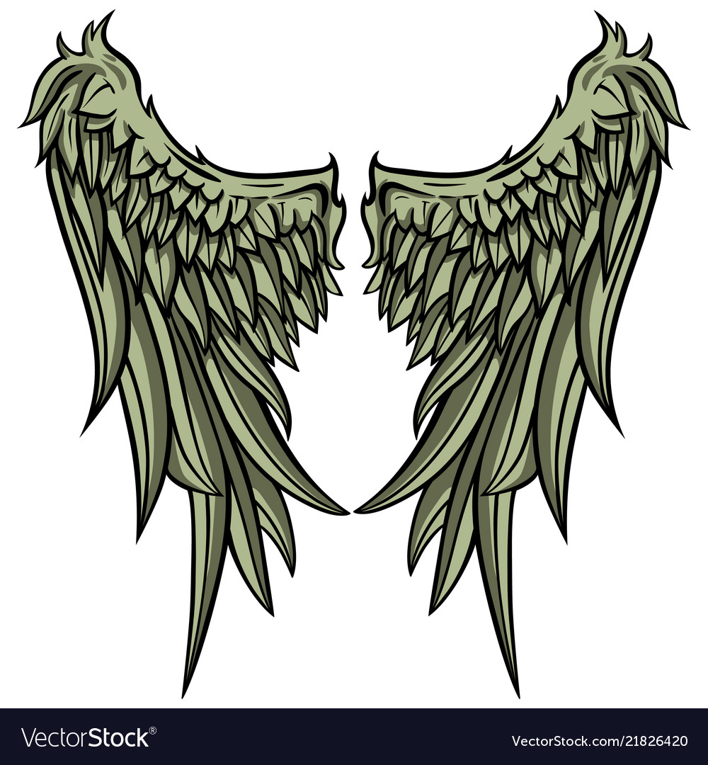 eagle wings royalty free vector image vectorstock vectorstock