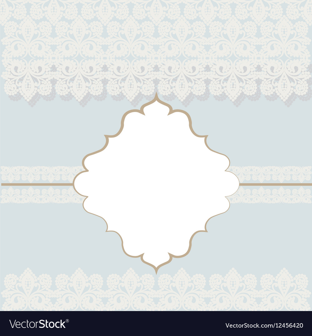 Lace Crochet Card Background Royalty Free Vector Image