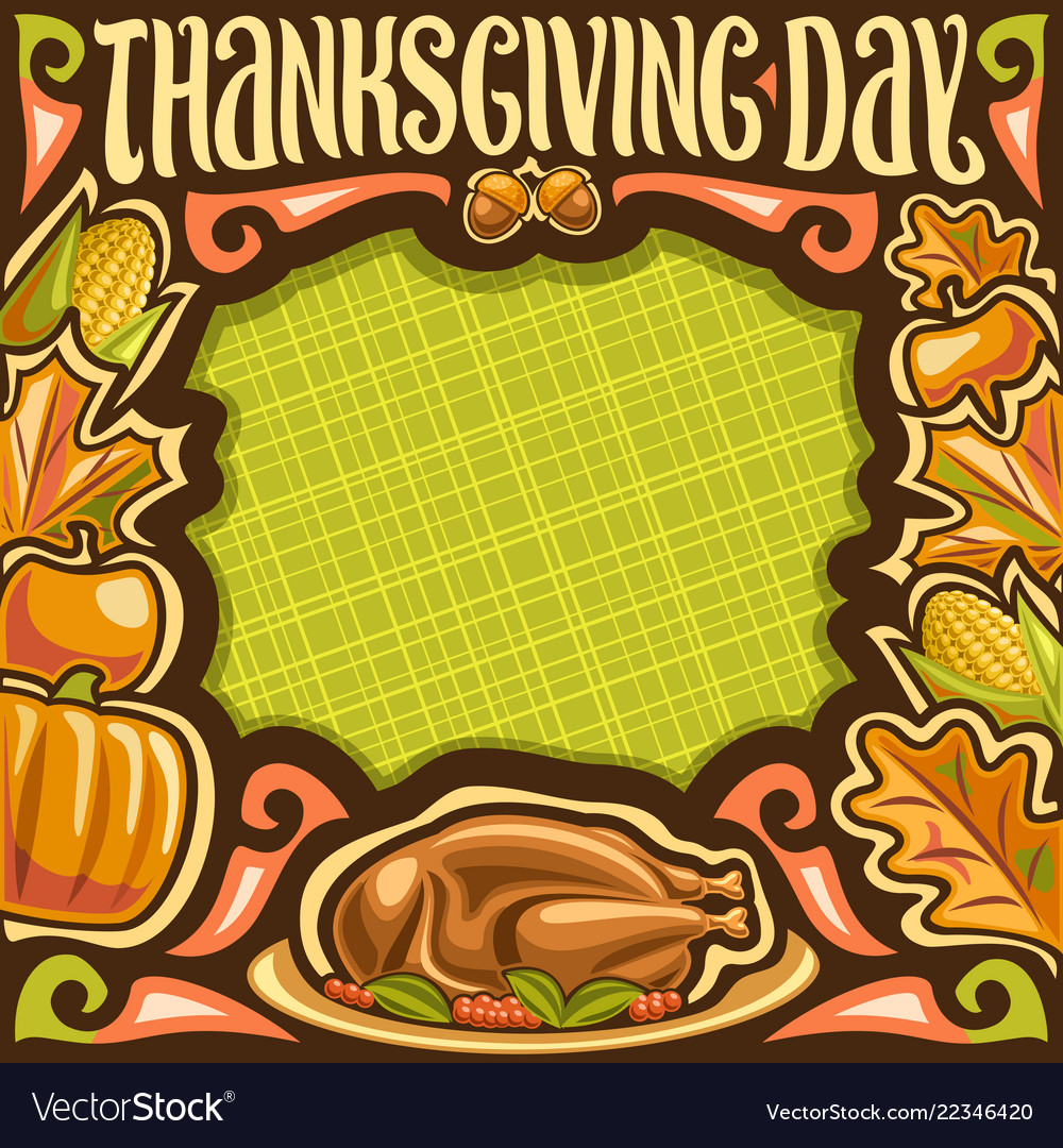 Placard for thanksgiving day