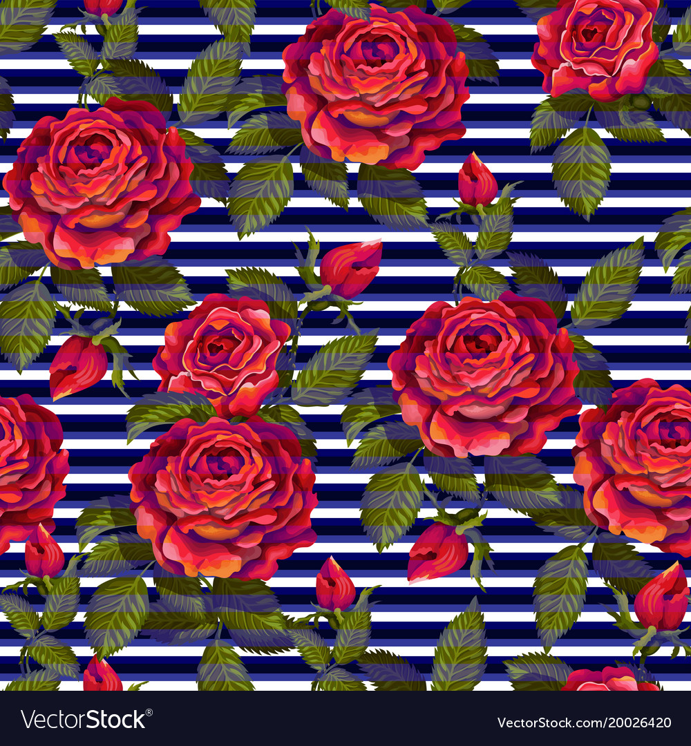 Red rose seamless pattern for your design