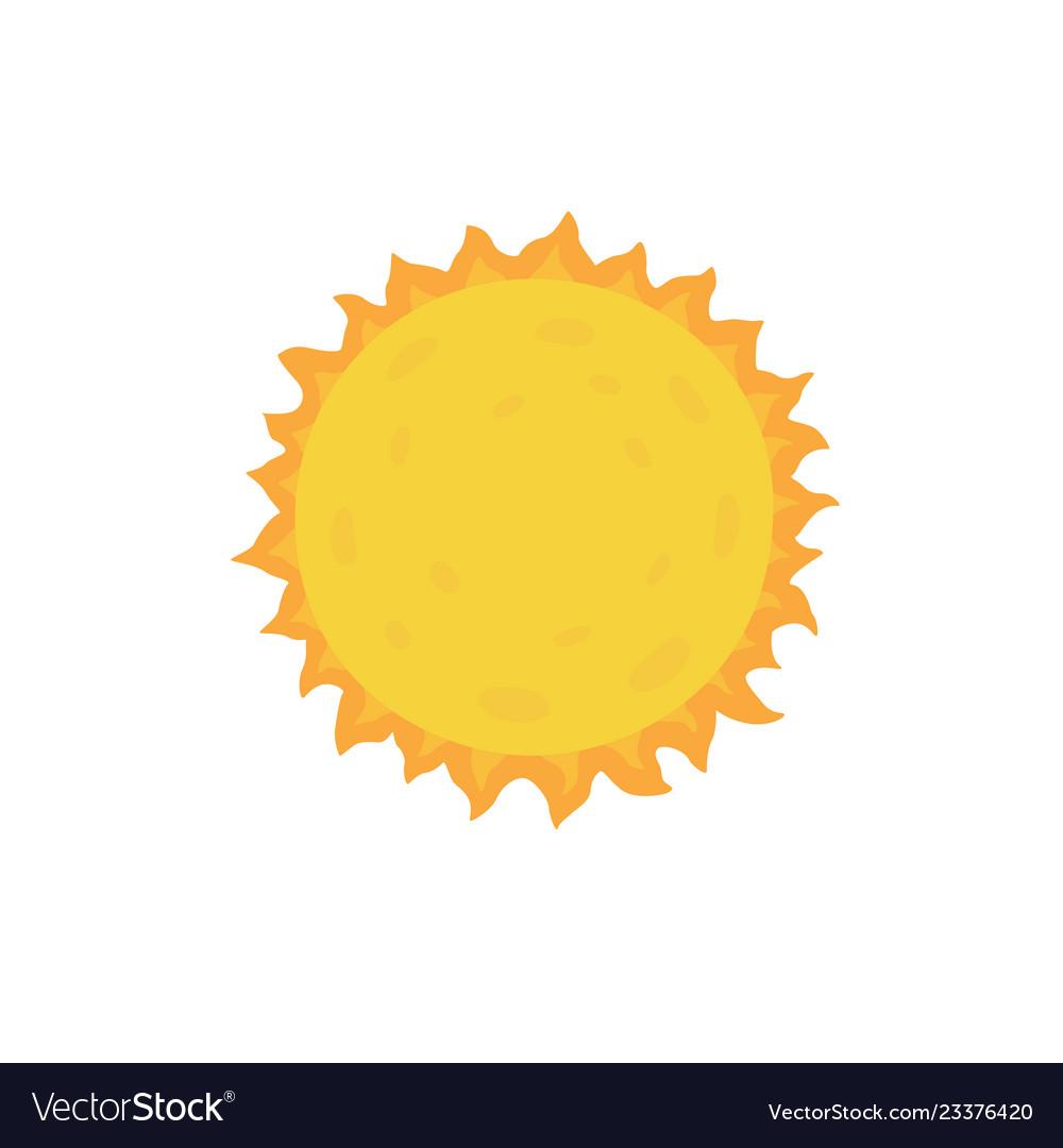 Sun on white isolated