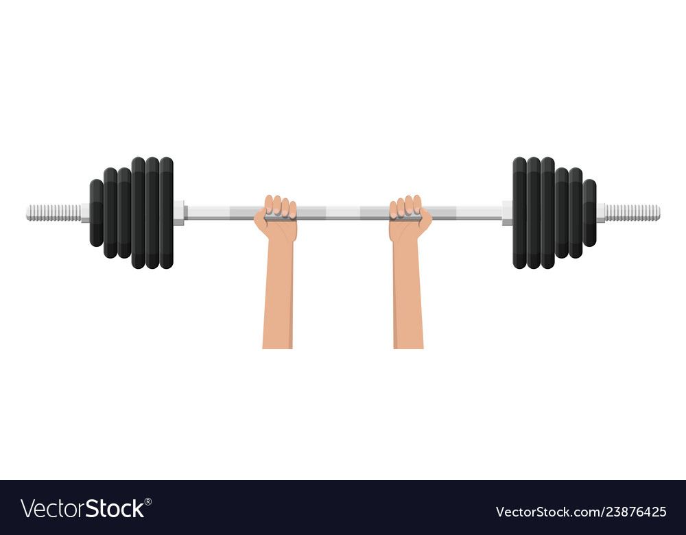 Barbell with metal weights