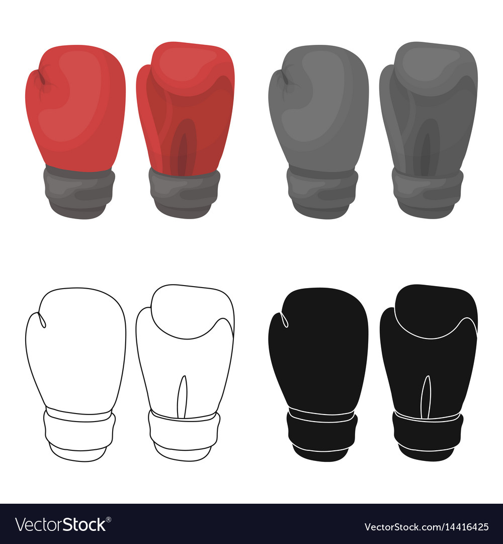 Boxing gloves icon in cartoon style isolated on