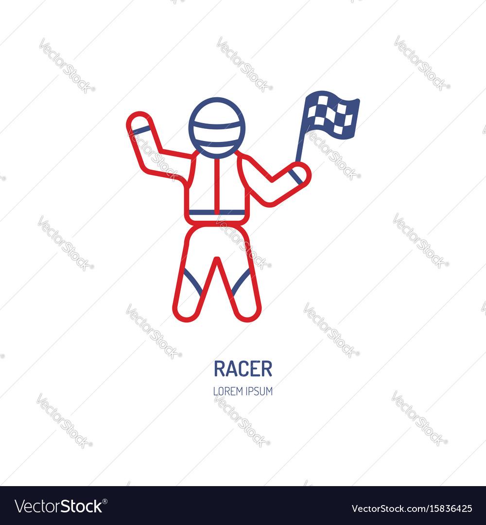 Car racer line icon speed auto
