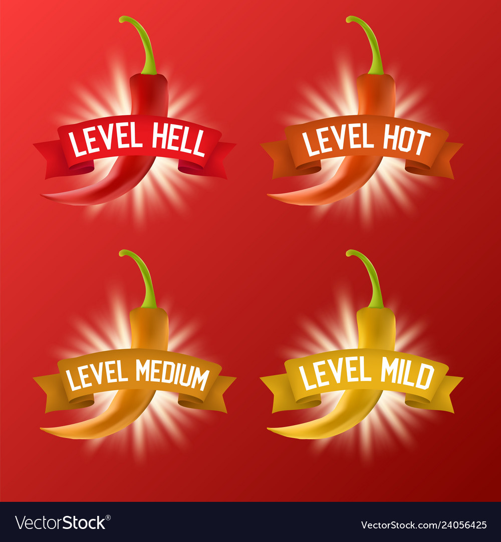 Red hot chili pepper heat scale realistic