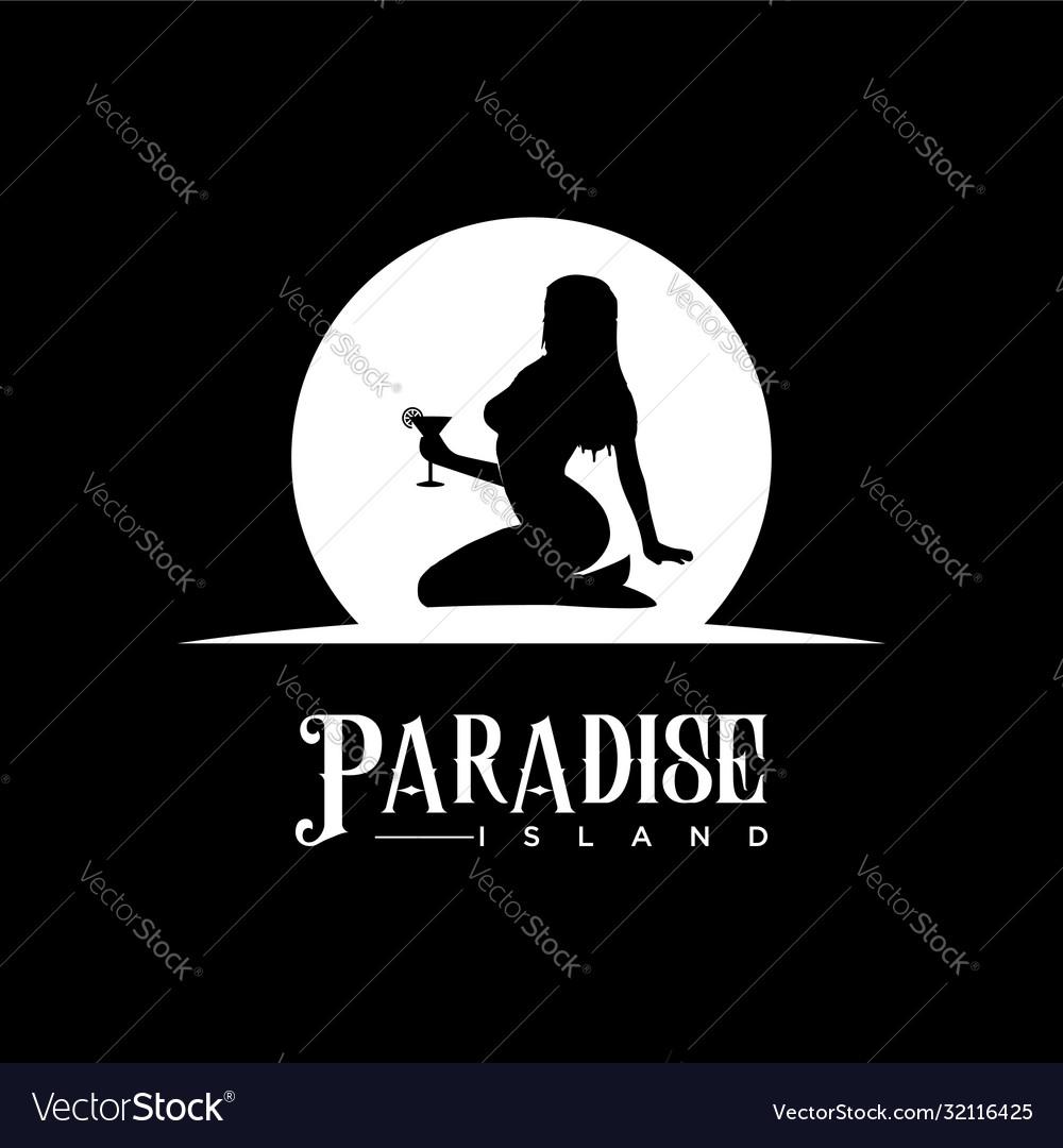 Sexy woman girl female mermaid silhouette