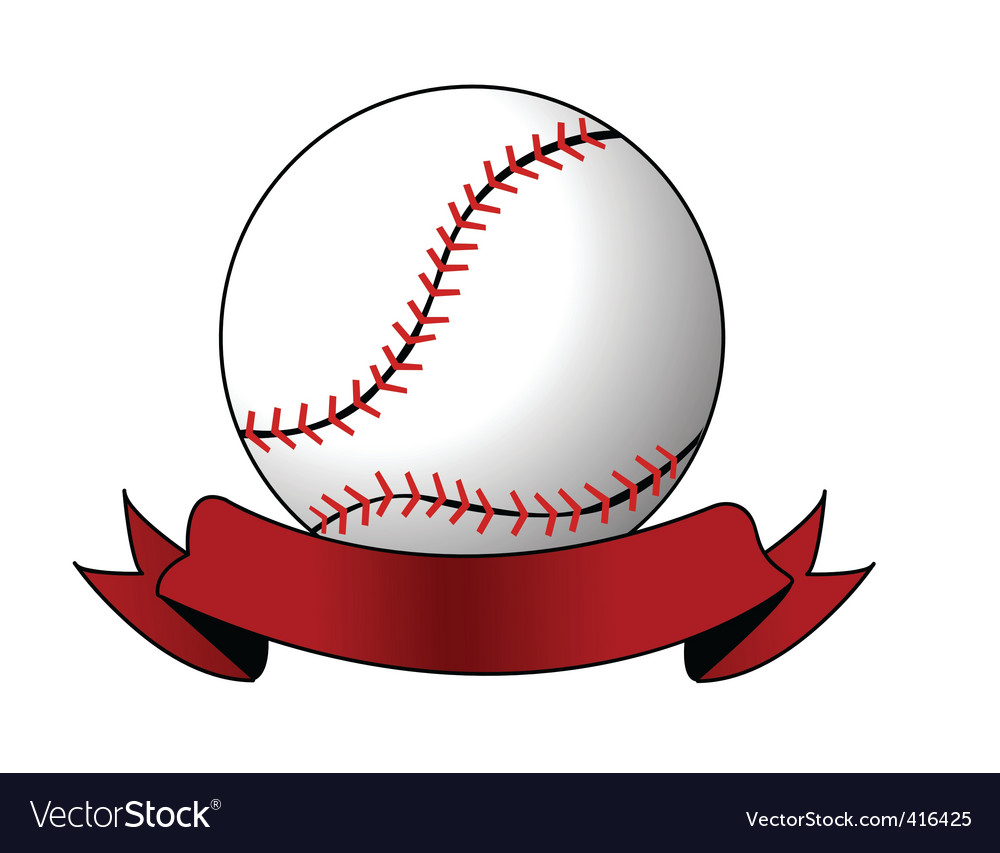 Softball image vector image