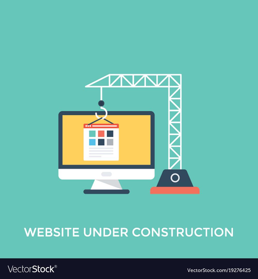 Website Under Construction Royalty Free Vector Image