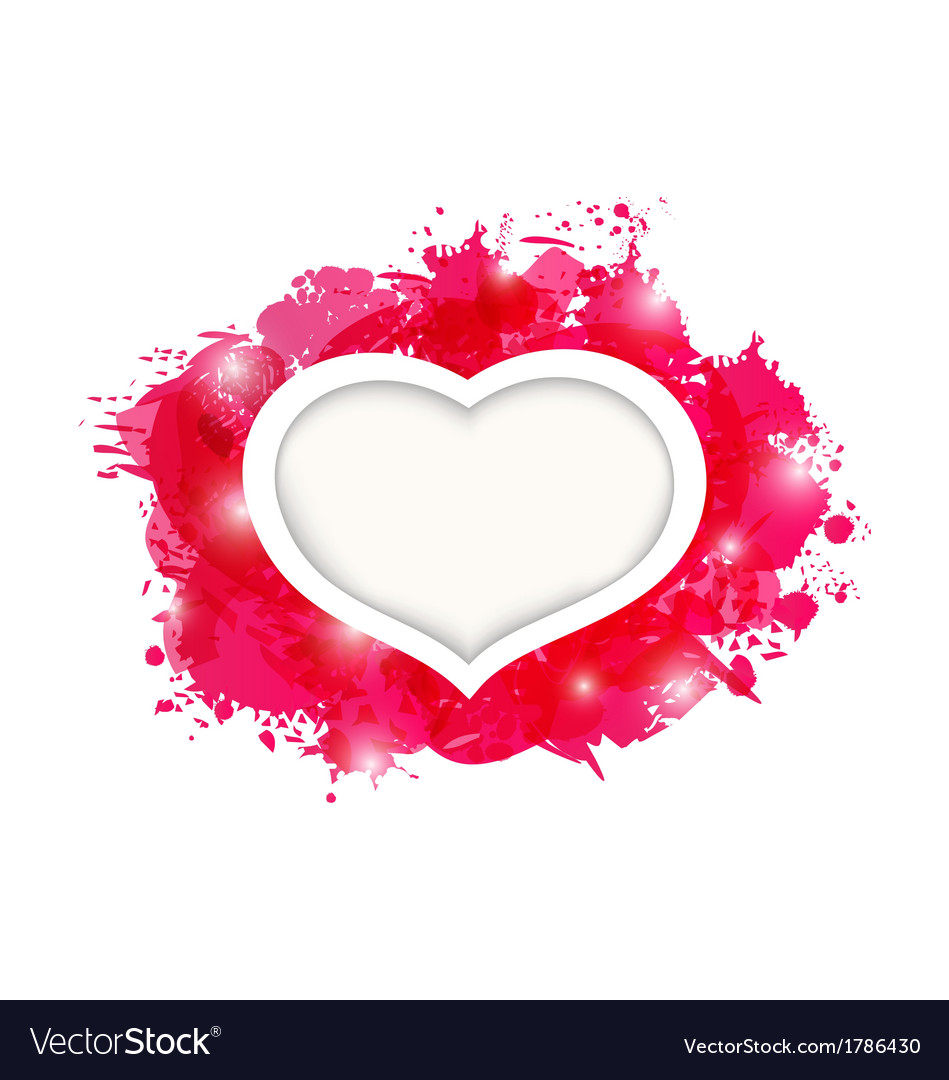 Beautiful Heart For Card Valentines Day Royalty Free Vector