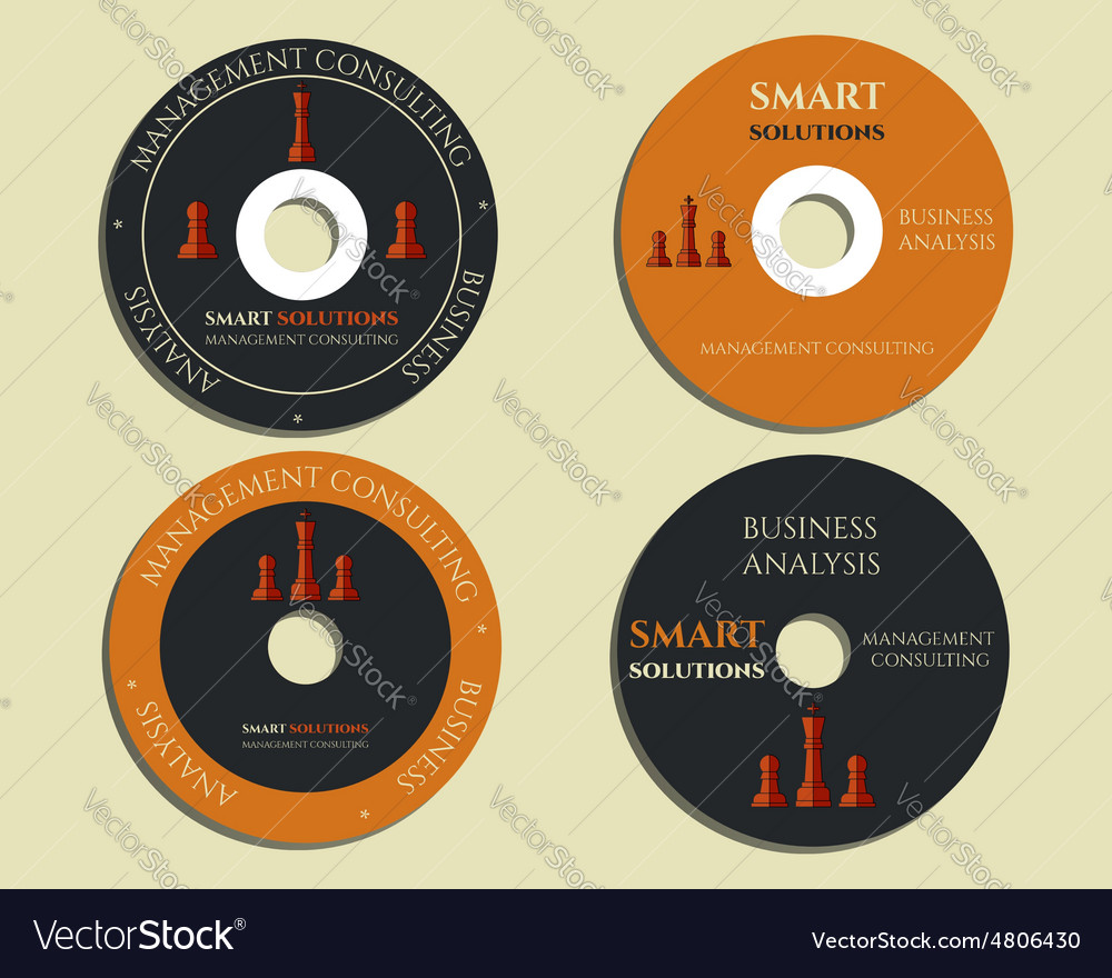 Business CD DVD templates sign icon Compact