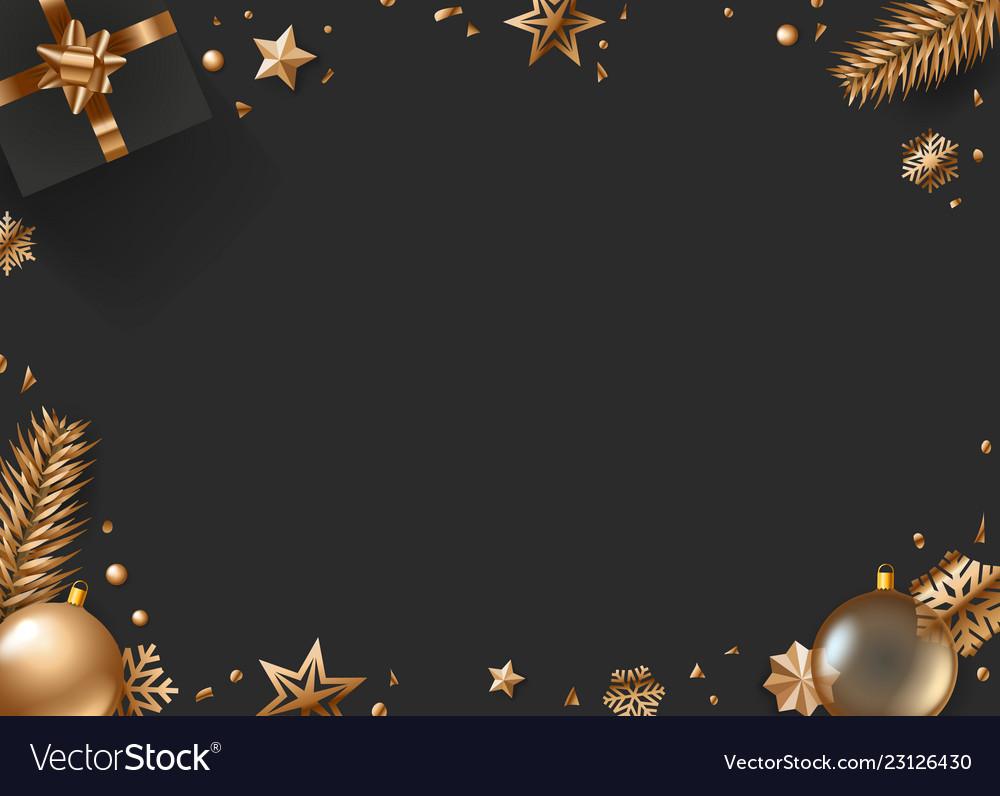 Christmas Top View.Christmas Composition Top View Christmas Box Fir
