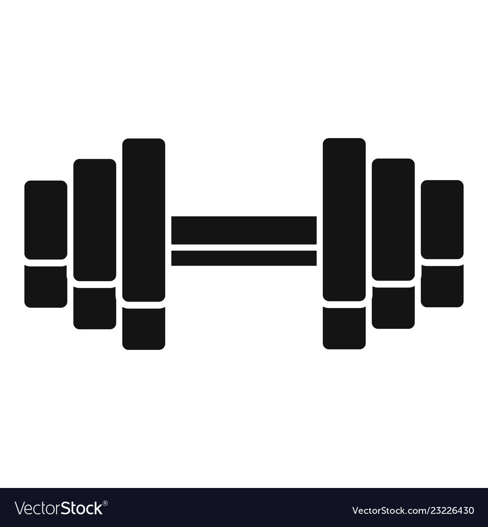 Gym dumbell icon simple style