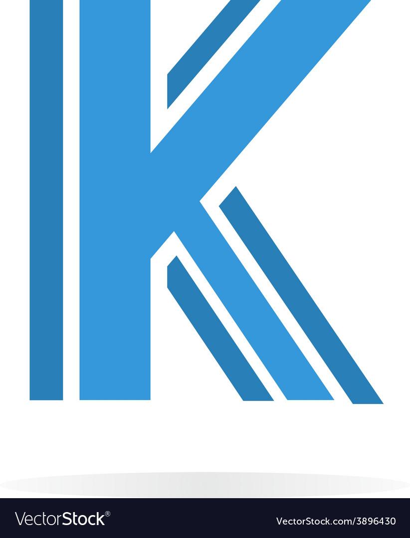 Logo k letter for company design template vector image spiritdancerdesigns Gallery