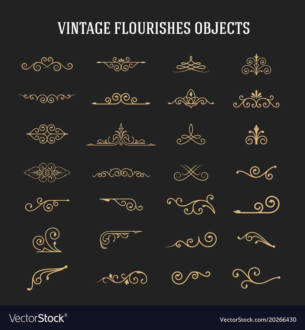 Set of vintage ornamental flourishes