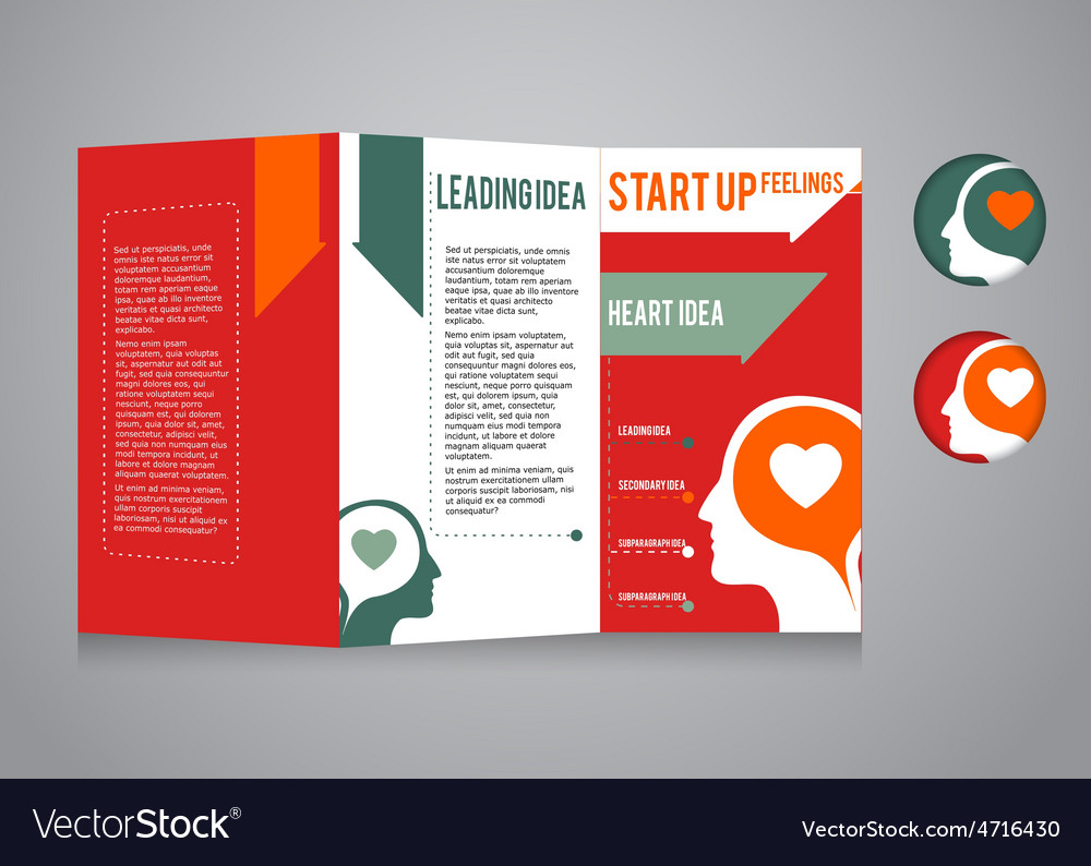 template booklet theme business and startup vector image