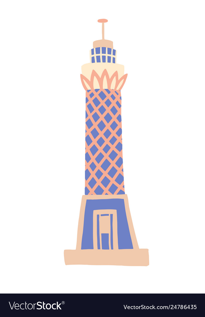 Cairo tower sketch drawing icon