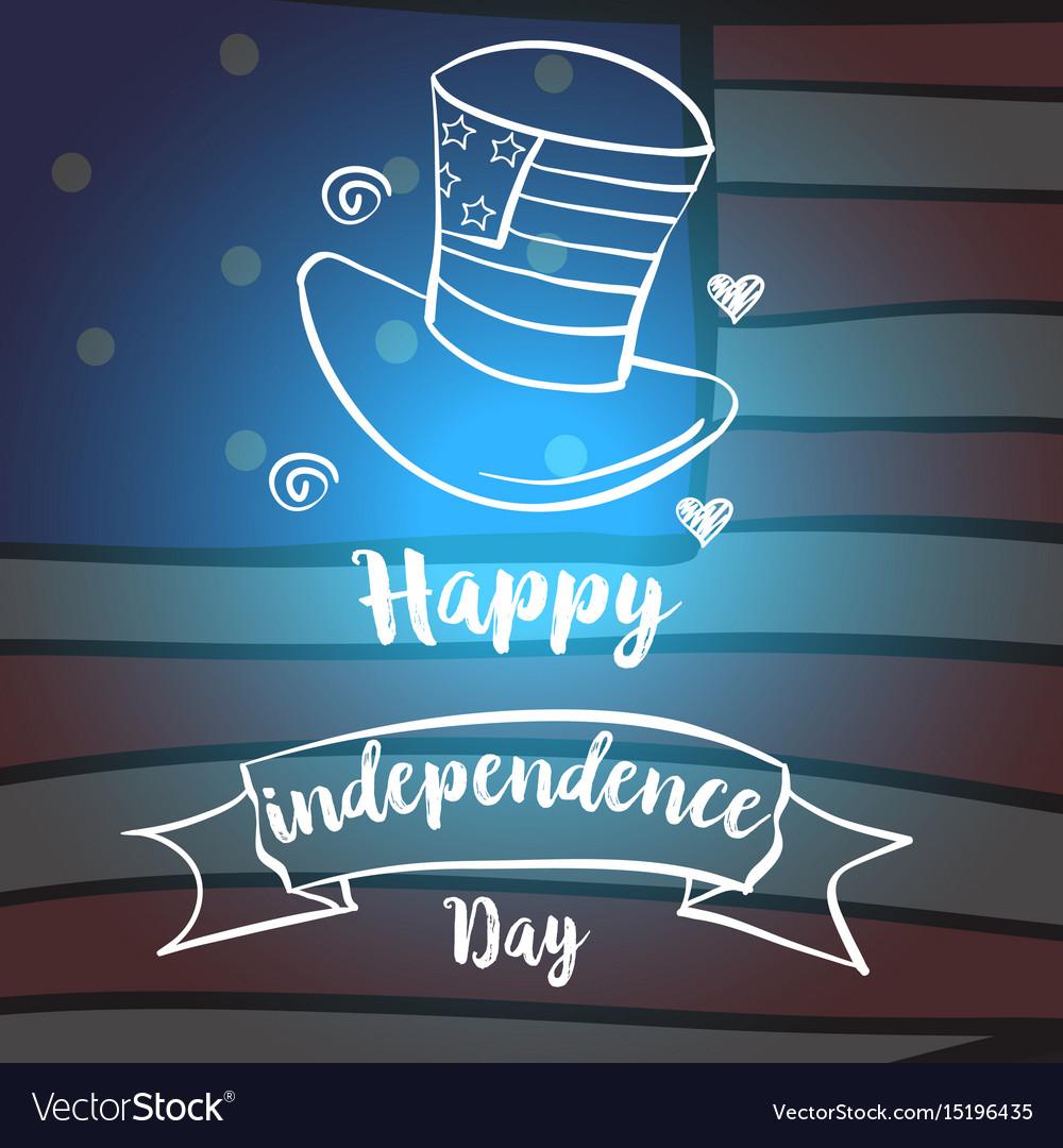 Celebration card style independence day