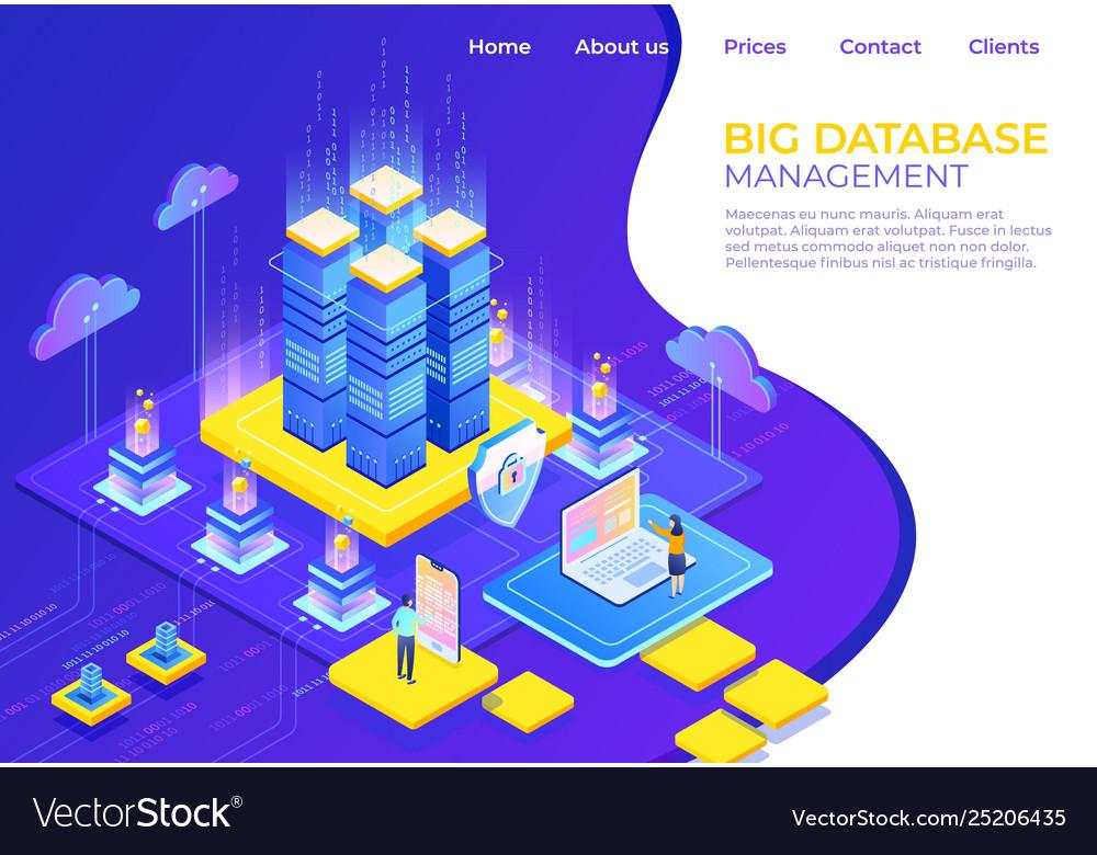 Database isometric concept server business