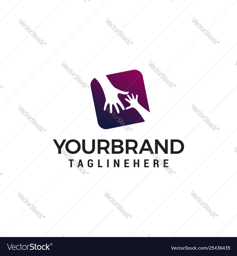 Hand care logo design concept template