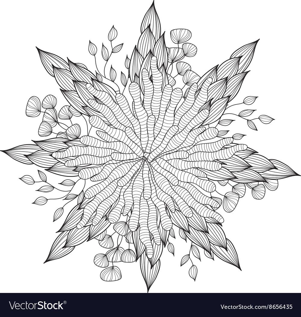 Hand drawn artistic ethnic ornamental patterned