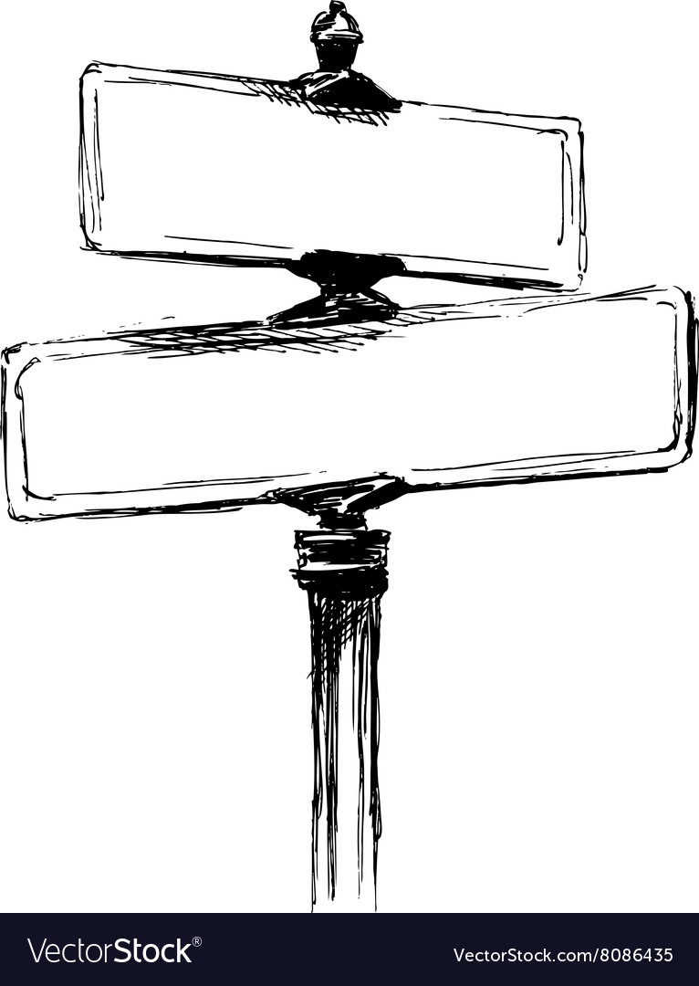 Hand sketch street signs