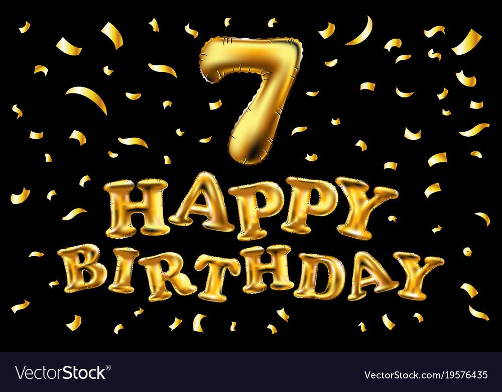 Happy birthday seven year balloon for decoration