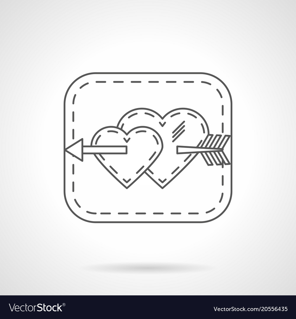 Melodrama flat line icon vector image