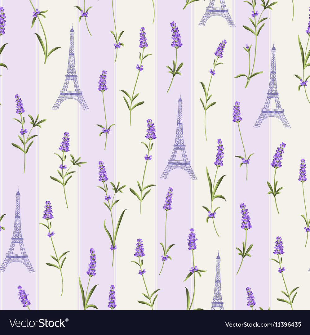 Pattern with lavender flowers