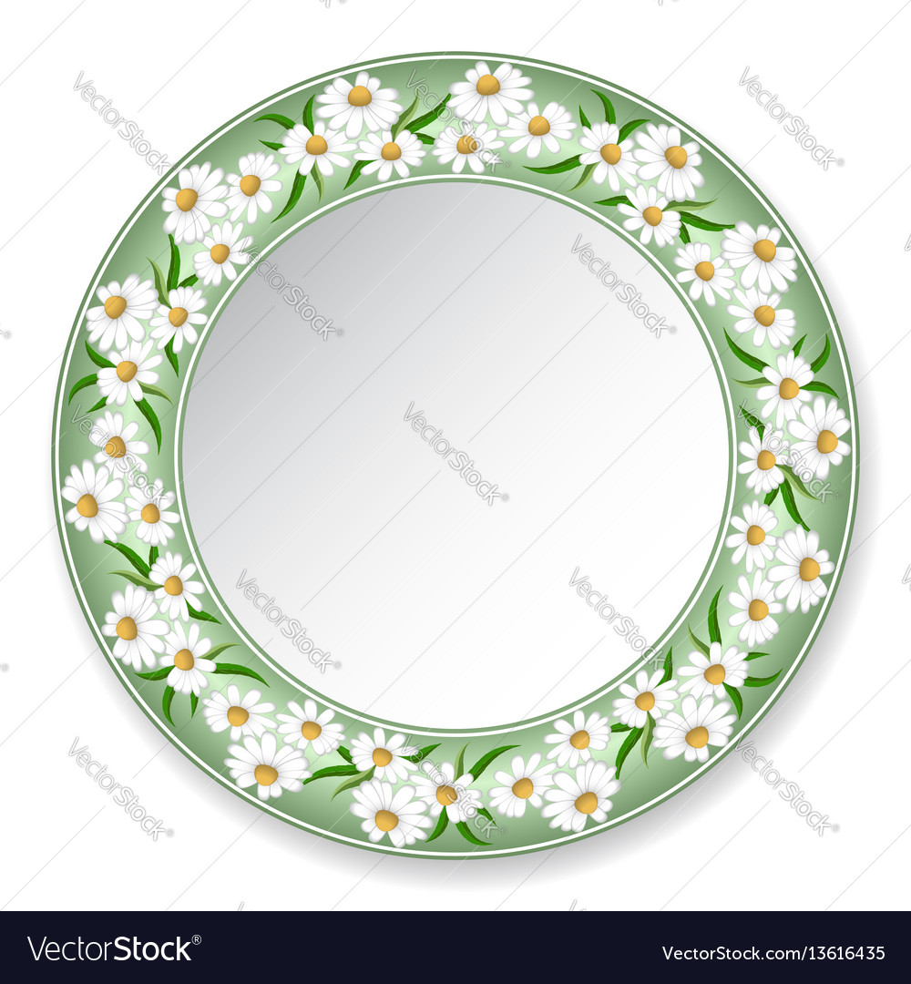 Plate with daisies