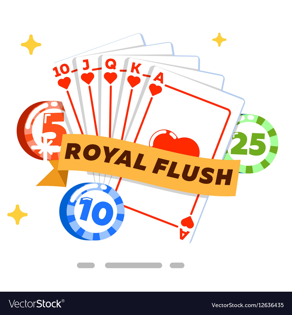 Poker isolated concept in flat style