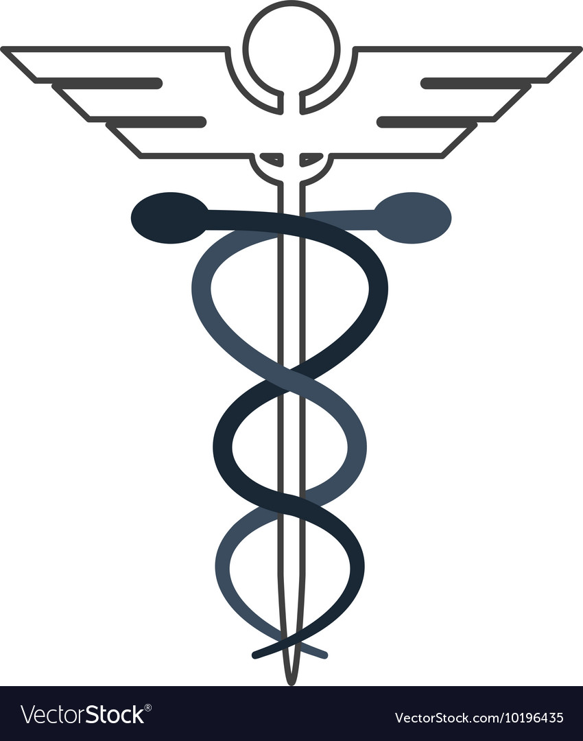 Rod Of Asclepius Icon Royalty Free Vector Image