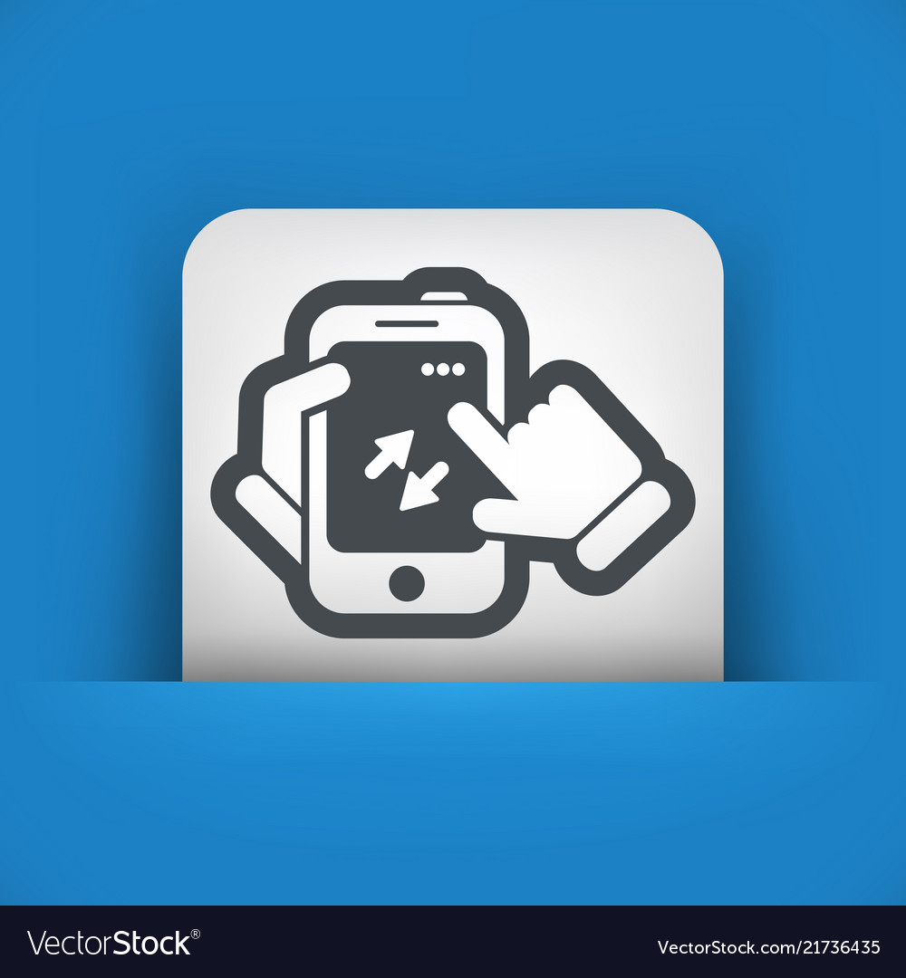 Smartphone icon file transfer