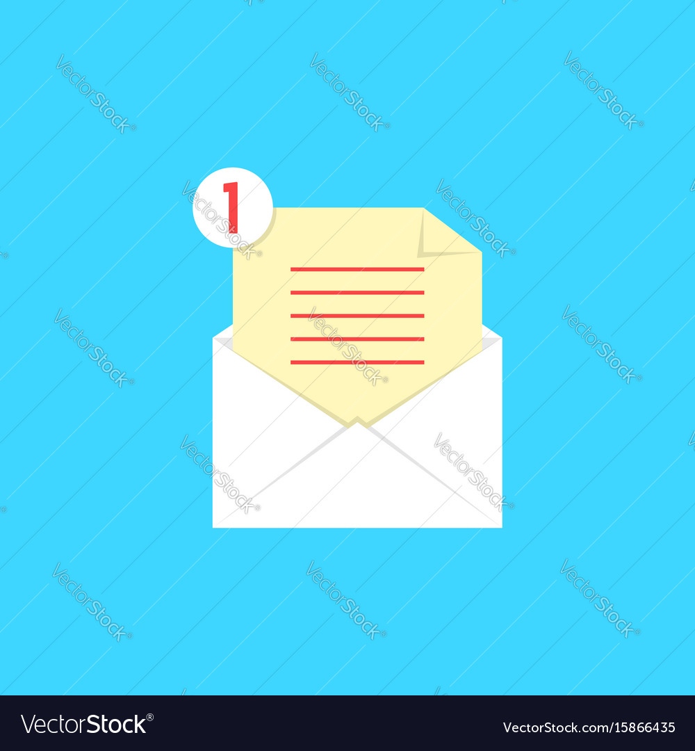 White open envelope with check list and notice