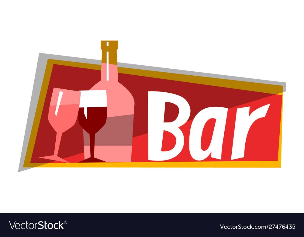 Wine alcohol bar cafe restaurant logo