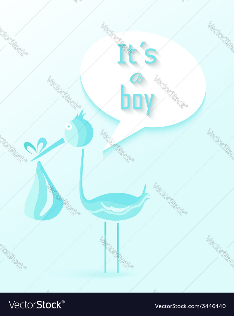Baby shower boy invitation card design