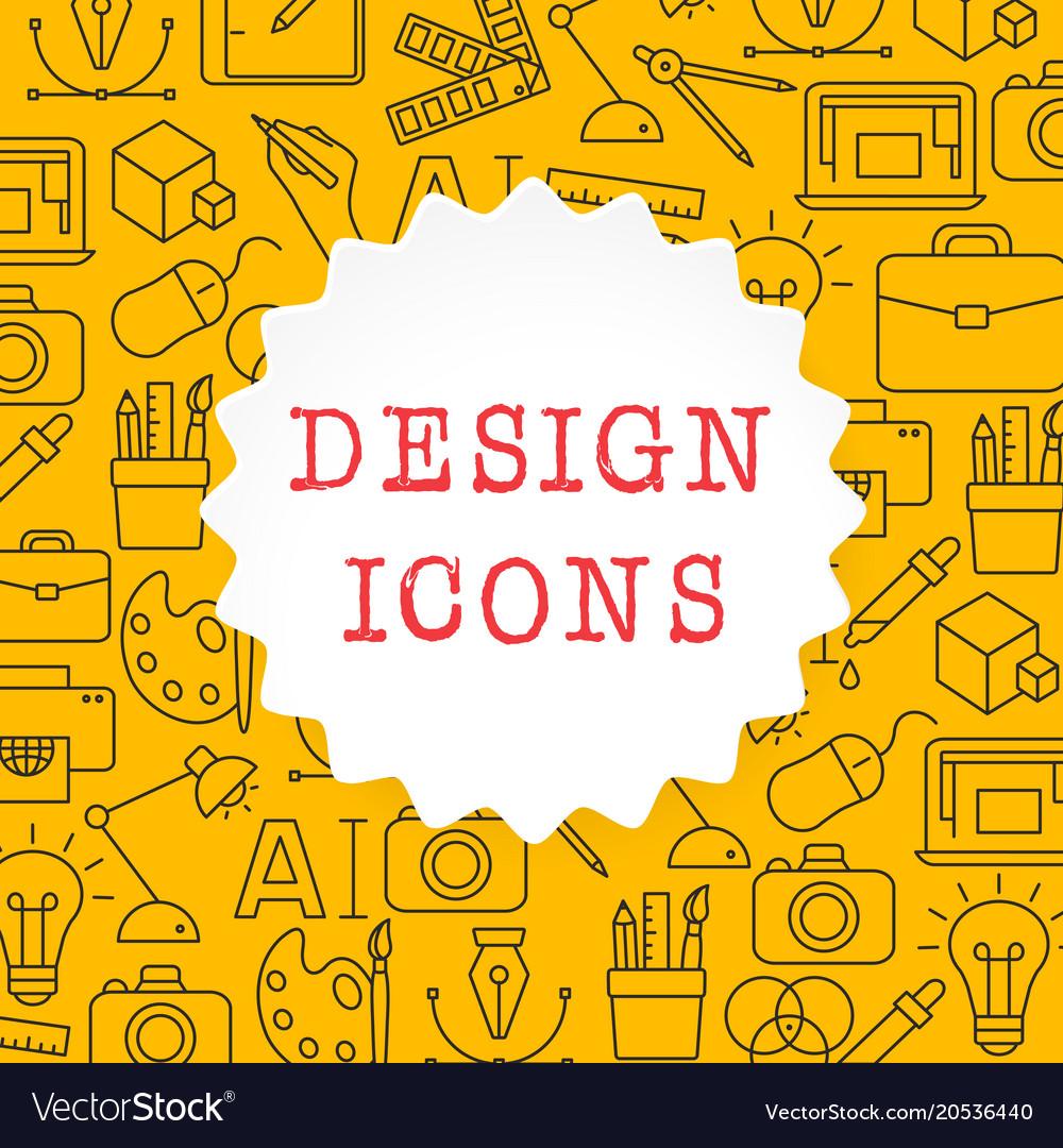 Design outline icons set