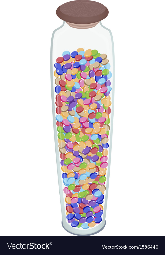 Different Colors of Chocolate Candies in Glass jar
