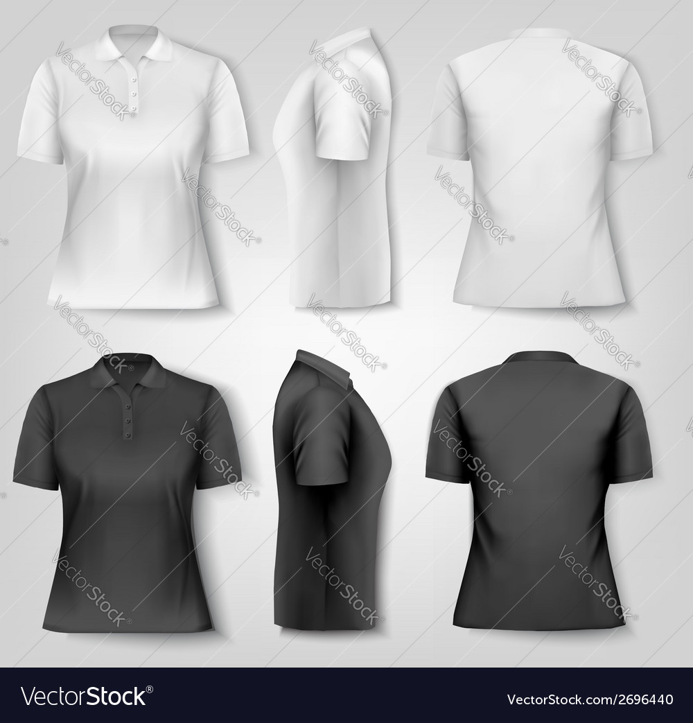 Female Polo Shirts Design Template Vector Image