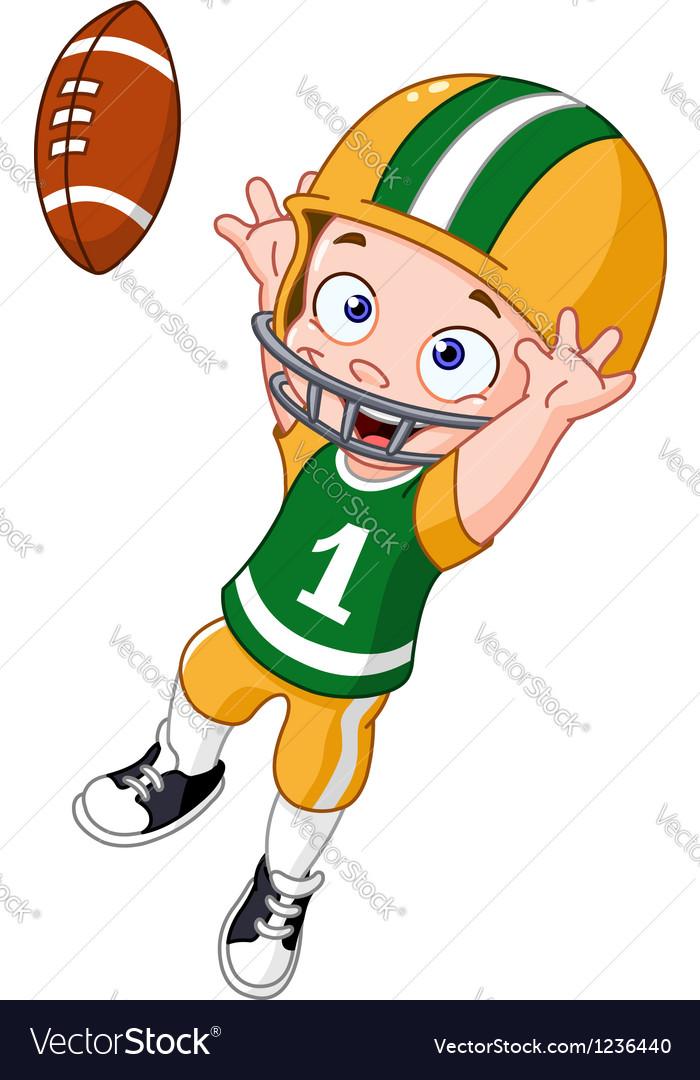 Football kid vector image