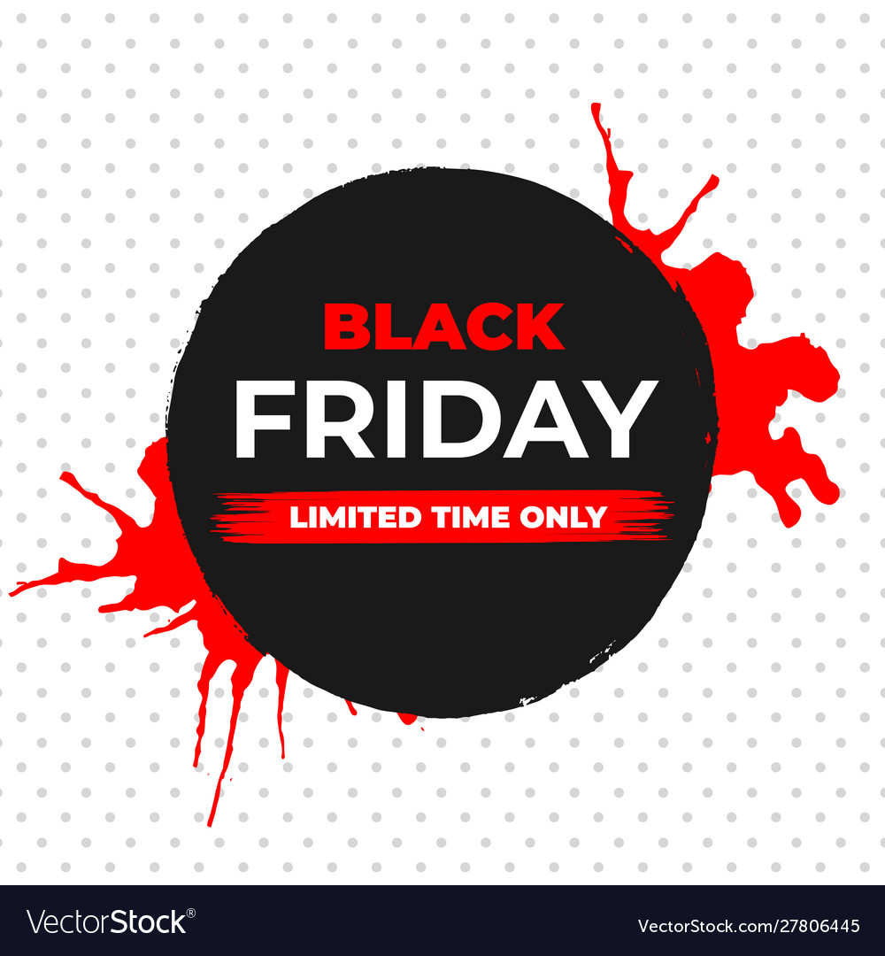 Black friday sale banner with ink brush